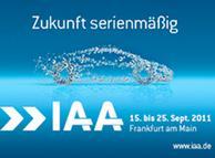 IAA-Logo 2011. Beschreibung: 64. Internationale Automobil Ausstellung für Personenkraftwagen in Frankfurt am Main vom 15. bis 25. September 2011. Beschreibung: IAA-Logo 2011. Eingestellt am 21.8.2011. ********** Frei zur Verwendung für Pressezwecke.**************** Zugeliefert durch Henrik Böhme. Coyright: VDA