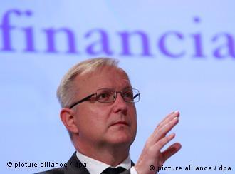 Kommissar Olli Rehn am 15.09.2011 in Brüssel (Foto: pa/dpa)