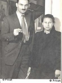 Яніна Гешелес зі своїм рятівником Міхалом Борвічем після війни
