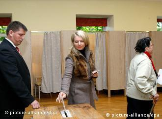Voters in Latvia