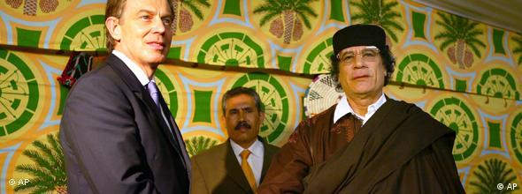 NO FLASH Blair und Gaddafi Libyen 2004