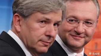 Клаус Воверайт (ліворуч) з СДПН втретє поспіль переміг на виборах у Берліні