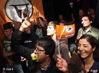 Piratas festejando su última fechoría: el 9% en Berlín (Foto: Adam Berry/dapd).