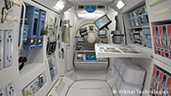 Orbital Technologies' vision of a room at the hotel, seen from inside