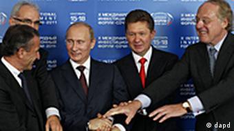 Putin mit europäischen Partnern des South-Stream-Projekts (Foto: AP/dapd)