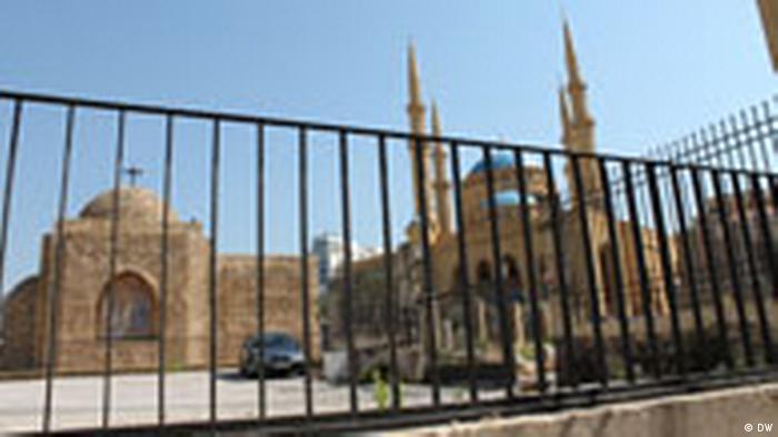 Libanon Beirut Kirche und Moschee