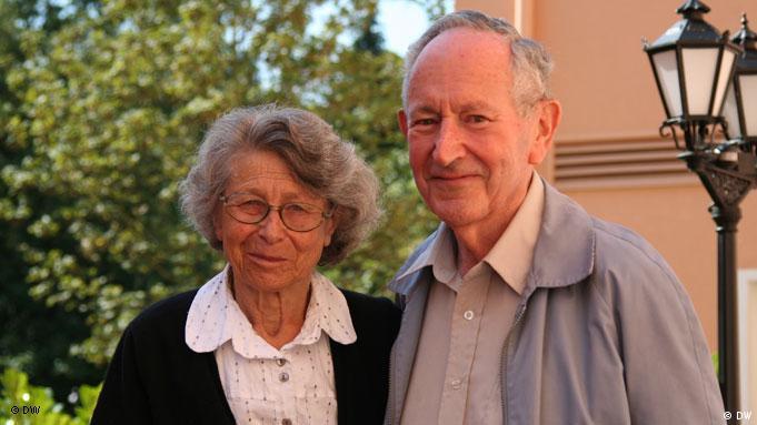 Подружжя науковців: Яніна Альтман (Гешелес) зі своїм чоловіком Кольманом - відомим ізраїльським фізиком.