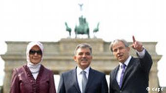 Berlin Brandenburger Tor Wowereit Gül