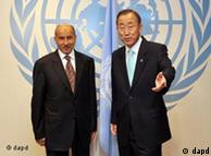 بان کی مون دبیرکل سازمان ملل و مصطفی عبدالجلیل، شورای ملی انتقالی لیبی