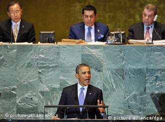 US President Barack Obama speaks during the 66th session of the United Nations General Assembly