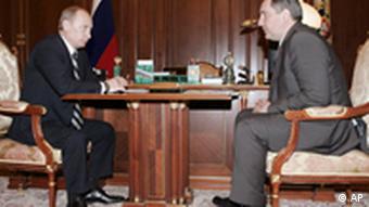 Wladimir Putin und Dmitri Rogosin