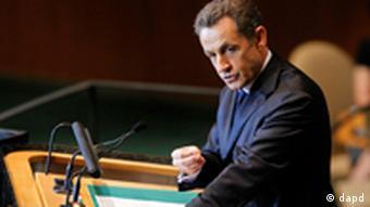 Президент Франції Ніколя Саркозі під час виступу в ООН