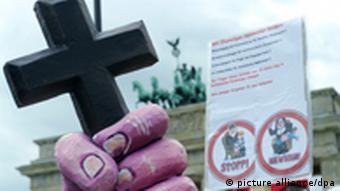 Papst Benedikt XVI. Deutschland 2011 Protest