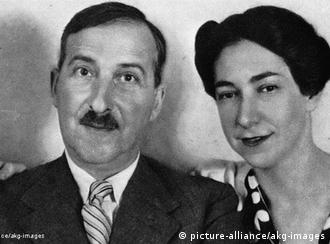 Stefan Zweig e segunda esposa, Lotte, em 1938