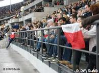 Polskie flagi na stadionie olimpijskim