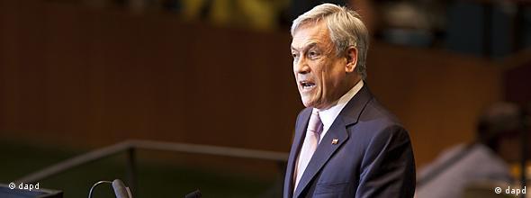 Superteaser NO FLASH USA UN Chile Präsident Sebastian Pinera auf der Generalversammlung