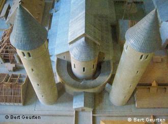 A model in Aachen of the St. Gallen monastery plan