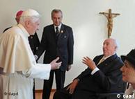 El Papa y el ex canciller alemán Helmut Kohl.