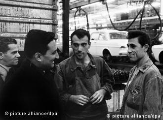 Turkish workers at the Cologne Ford plant in 1964
