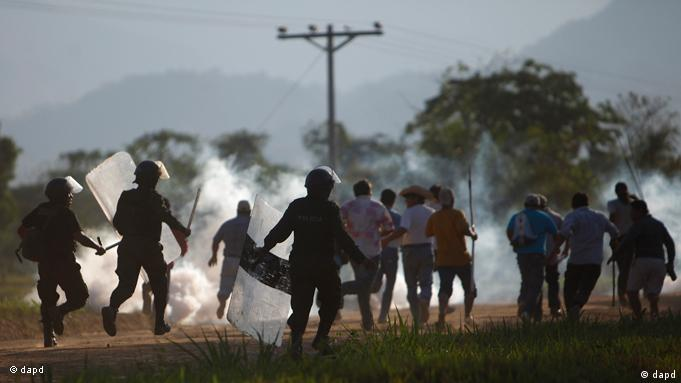 Flash-Galerie Bolivien Protest indigene Bevölkerung