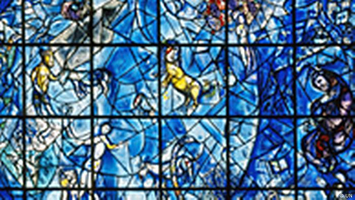 French artist Marc Chagall created this glass memorial to Hammarskjold