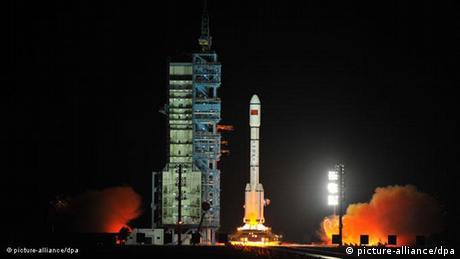 Flash-Galerie Raketenstart Tiangong 1 in China