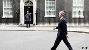Donwing Street, London, Sitz des englischen Premierministers. Quelle: AP