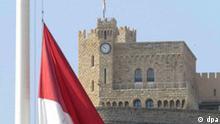 Fürst Rainier III. von Monaco gestorben Schloss in Monaco
