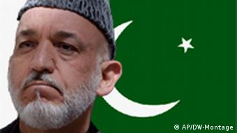 Montage Hamid Karzai Afghanistan Flagge