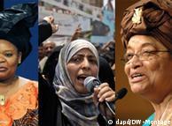 Die Friedensnobelpreisträgerinnen 2011: Leymah Gbowee, Tawakkul Karman und Ellen Johnson Sirleaf (v.l.n.r.) (Foto: dapd)