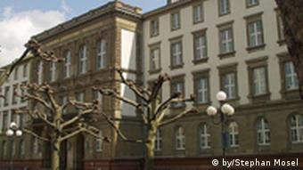Das Hauptgebäude der Uni Gießen, (Foto: Copyright: by/Stephan Mosel)