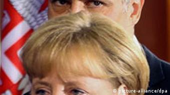 Predsednik Srbije Boris Tadić i nemačka kancelarka Angela Merkel prilikom njene posete Beogradu 23.8.2011.