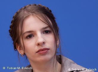 Один из лидеров Партии пиратов Марина Вайсбанд