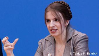 Марина Вайсбанд во время пресс-конференции