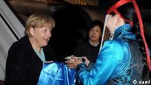 Bundeskanzlerin Merkel in der Mongolei