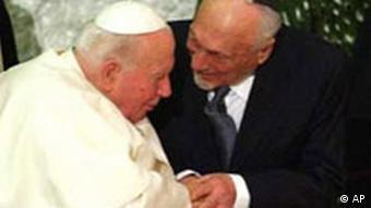 Testament des Papstes Johannes Paul II, Rabbi Elio Toaff
