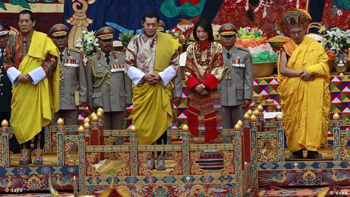 Jigme Khesar Namgyal Wangchuck und Queen Jetsun Pema Heirat