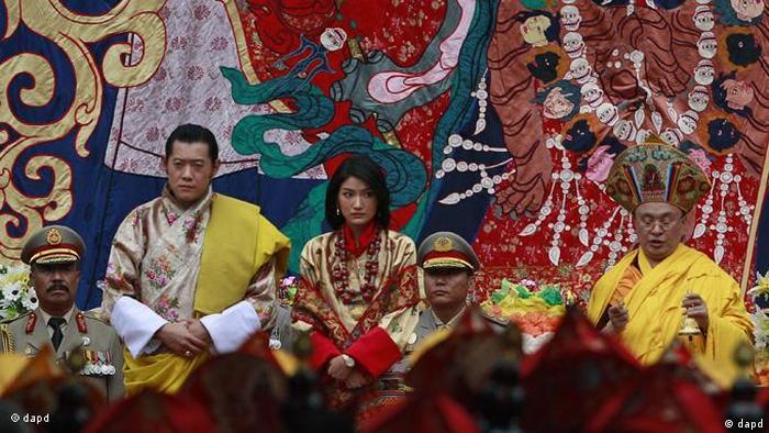 Jigme Khesar Namgyal Wangchuck und Queen Jetsun Pema Heirat (dapd)