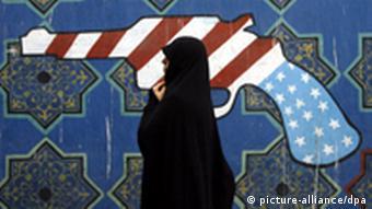 نمای بیرونی سفارت ایالات متحده آمریکا در تهران پس از سه دهه