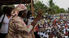 Liberia Wahlen in Monrovia Demonstration
