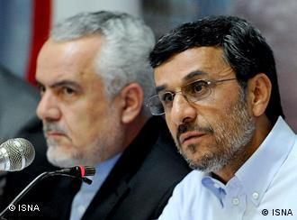 محمود احمدینژاد و معاون اول او محمدرضا رحیمی