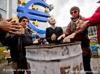 occupy activists at ECB building