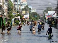 Inundações como as das Tailândia são outro desafio
