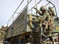 Kenyan military on board a truck headed for Somalia