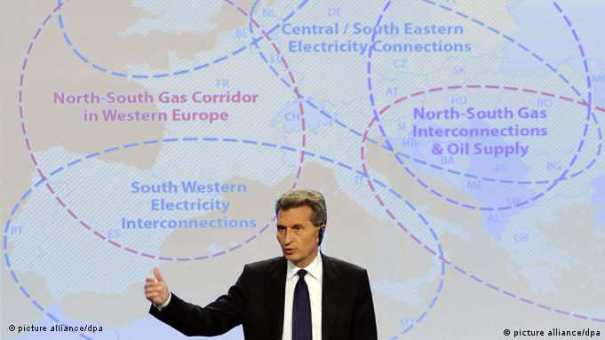 Projekt Connecting Europe Energiekommissar Oettinger Flash-Galerie
