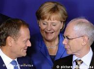 Donald Tusk, Angela Merkel i Herman Van Rompuy