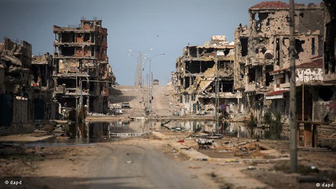 Ruinen von bei Kämpfen zerstörter Häuser (Foto: AP/dapd)