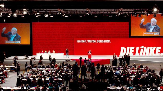 Oskar Lafontaine Bundesparteitag der Partei Die Linke in Erfurt 2011 Flash-Galerie