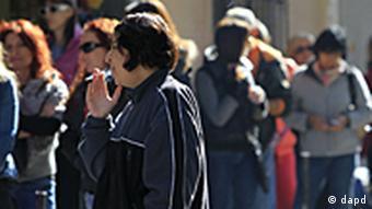 صف جویندگان کار در آتن، پایتخت یونان