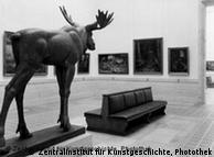 Imagem de mostra de arte apreciada pelos nazistas, no ano de 1940
